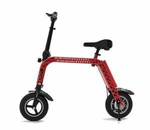 TX Vélo électrique Pliant Alliage d'aluminium de qualité aéronautique Taille Mini avec siège Enfant, paramètre de Vitesse mètre Roues de 10 Pouces 12,8 kg, Version Sportive Endurance 45 km,Red