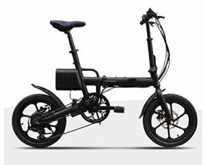 TX Vélo électrique Pliant Batterie au Lithium à Vitesse Variable 16 Pouces 40-60KM 9.5 KG, 3 modèles changent d'affichage de la Vitesse de Puissance LCD
