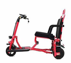 TX Vélo électrique Pliant Portable 3 Roues, Facile à Transporter, Batterie au Lithium 48V en Alliage d'aluminium Super légère de 22,6 kg,Red