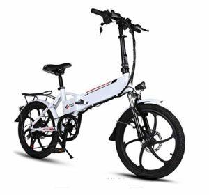 TX Vélo électrique Pliant Taille Mini Batterie Alliage d'aluminium 20 Pouces 20kg 48V Lithium Aviation 3 modèles, Entrée de Charge USB, Une Roue en Alliage de magnésium de 20 Pouces,Red