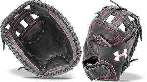 Under Armour Deception 85,1 cm Uacmw-200 a Fastpitch Softball Gant de sécurité pour Enfant, Noir/Rouge