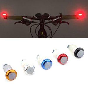 VGEBY Paire Lampes Indicateurs Vélo Feux Clignotants de Direction Poignée Guidon Embouts en Alliage Alumiunm (Couleur : Rouge)