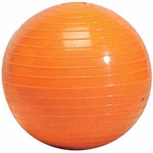 Visiodirect Balle lestée striée Coloris Orange -Poids 500 g