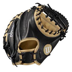 Wilson Sporting Goods 2019A2000Gant de Baseball Série, Homme, 2019 A2000 CM33 33″ Catcher's Baseball Mitt – Right Hand Throw, Blonde/Black – Catcher's Model, 33″