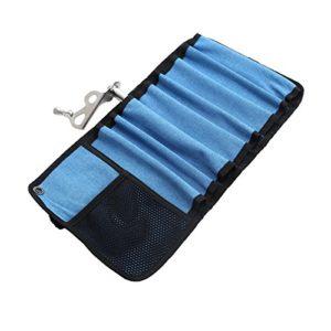 WINOMO Sac à roulettes portatif pour pistolets d'escalade Vis à glace de protection et d'organisateur (bleu)