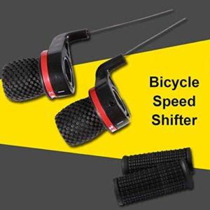 1 Paire de Manettes de Vélo, Dérailleur de Vitesse de Vélo Poignée de Frein à Vélo Twist Shift pour VTT
