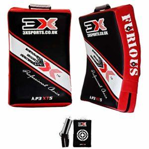 3XSports Boxe MMA Gel Rembourré Strike Shield Large Tapis de frappe pour entraînement MMA courbé (Vendu à l'unité)