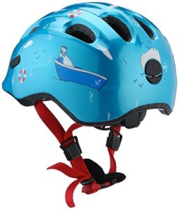 Abus Smiley 2.0 Casque pour vélo Enfant – bleu turquoise – Turquoise Sailor – M(50-55 cm)