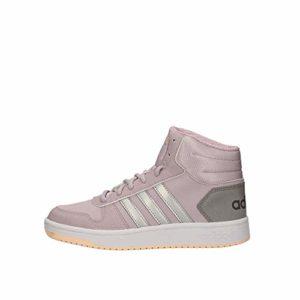 adidas Hoops Mid 2.0 K, Chaussures de Basketball Mixte Adulte, Multicolore (Malva/Plamat/Grasua 000), 38 EU