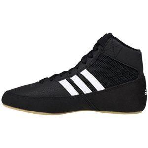 Adidas HVC 2 Wrestling Shoe, Black/White/Grey, 9