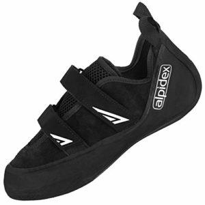 ALPIDEX Chaussure d'escalade en Cuir – avec Velcro, symétrique, sans prétension – Disponible en Tailles 36-49, erwachsenenschuh triop:46