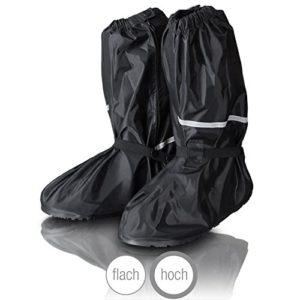 Amazy Surchaussures imperméables + pochette de rangement (Taille 44/45 | Hautes) – Couvre chaussures étanches pour temps de pluie, neige et poussière