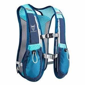 AONIJIE Running Backpack Sac à dos fonctionnel léger d'hydratation Pack 5.5L (Bleu)