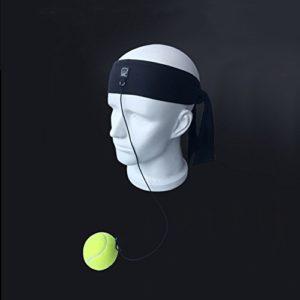 Balight de Boxe d'entraînement Poinçonnage Boule élastique Bandeau Corde à Suspendre Speed Balles de Fitness de Décompression Outil, Noir