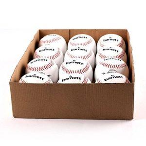 BARNETT TS-1 Balle de Baseball entraînement, 9», Blanc, 1 douzaine