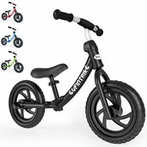 besrey 12″ Draisienne Vélo d'équilibre. Hauteur du Guidon et du siège est réglable. Adaptée aux Enfants de Plus de 3 Ans (Moins de 25kg). Disponible en différentes Couleurs.