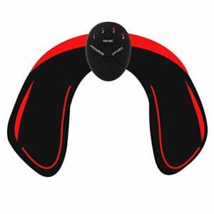 Buimin 1PCS Musculaire Entraînement Abdominal/Cuisse/Bras Muscle EMS Hips Trainer Electrostimulateurs fessier Intelligent Portable Massager Aider à Façonner Le Muscle et à Sculpter (A)