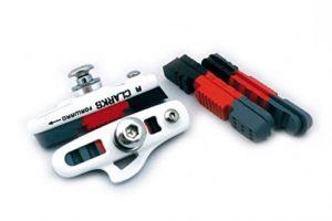 Clarks Gold Patin de frein pour vélo de route Triple Compound Support de cartouché léger compatible Shimano et Sram 55 mm
