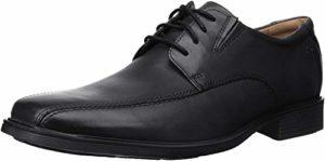 CLARKS Men's Tilden Walk Oxford,Black Leather,US 13 W