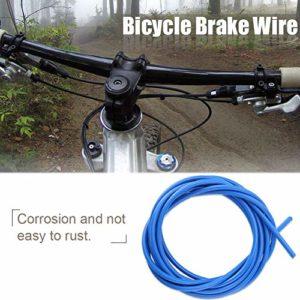 Dilwe 3M câbles de Frein de vélo, kit d'accessoires de Rechange pour vélos de Route, pour Les Amateurs de vélo(Bleu)