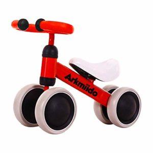 Draisienne Bébé, Vélo Enfant sans Pédales, Baby Balance Bike pour 1-3 Ans Enfants Premier Vélo, Tricycle Enfant(Rouge)