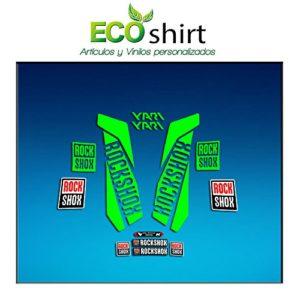 Ecoshirt 95-6AMV-KZBD Stickers Fork Rock Shox Yari 2017 Am157 Autocollants pour Fourche Vert Fluo 069