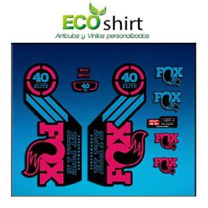 Ecoshirt C5-EABH-S46W Stickers Fork Fox 40 Elite Series Am69 Aufkleber Decals Autocollants Stickers Fourche Gabel Fourche, Rose