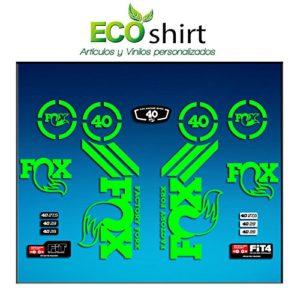 Ecoshirt HE-3UJK-377X Stickers Fork Fox 40 Am67 Aufkleber Decals Autocollants Stickers Fourche Gabel Fourche, Vert Fluo