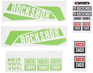 Ecoshirt IM-VCPZ-GWI9 Autocollants Fourche Fork Rockshox Yari 2016 Am39 Stickers Aufkleber Decals Autocollants Bike BTT VTT Cycle Vert 29″