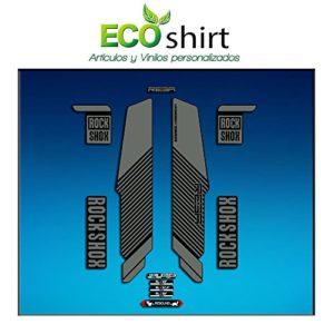 Ecoshirt XY-VBSQ-FZRG Stickers Fourche Rock Shox Reba RL Fork Am57 MTB Downhill Gris 29″