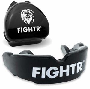 FIGHTR Protège-Dents de Haute qualité | Max.oxygène et sécurité + Facile à s'Adapter | Protège-Dents sans BPA INCL. Boîte | Box, MMA, Muay Thai