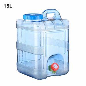 Funihut Réservoirs Eau, Alimentaire Camping avec Un Robinet 15L/20L, Bidon d'eau avec Bec Verseur en Plastique Epais pour Le Transport d'eau, Parfait pour Voyage Voiture Maison