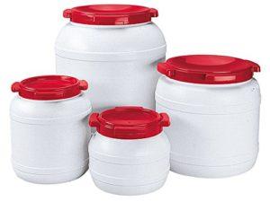 Fût à eau – 3,6 Litre – Etanche à l'eau et à l'air – Blanc/Rouge