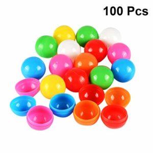 Holibanna Boules de Beer Pong Boules de loterie en Plastique Boules d'activité de Table Creuse Jeu Partie Alimentation 40mm diamètre 100pcs 30mm