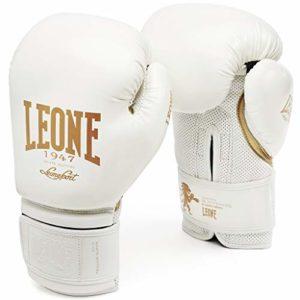 LEONE 1947 GN059 Gants de Boxe Mixte Adulte, Blanc, 10 oz