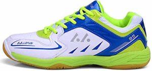 Mengxx Chaussures de Badminton pour Hommes Chaussures de Sport légères Tennis Respirant Baskets de Sport en Salle (42 EU, Vert)