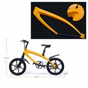 MERRYHE Ville Vélo électrique VTT Amovible au Lithium Intelligent -Microphone Bluetooth stéréo 20 Pouces Mini vélomoteurs Scooters,C-36V5.8AH