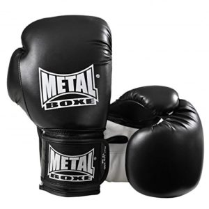 METAL BOXE MB200 Gants de Boxe Noir 14 oz