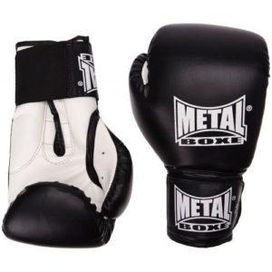 METAL BOXE PB480 Gants de Boxe Noir 10 oz
