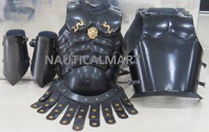 NAUTICAL MART nautique Mart grec musculaire armure avec acier Bracer Wearable Halloween