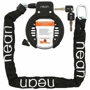 nean Antivol pour vélo avec chaîne et kit de Montage Noir 5,5 x 900 mm