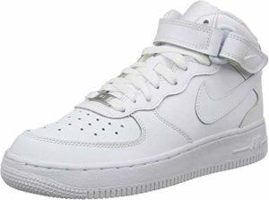Nike Air Force 1 Mid (Gs), Chaussures de basketball mixte enfant, Blanc (White 113), 38