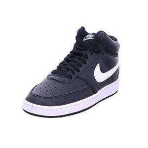 Nike WMNS Court Vision Mid, Chaussures de Basketball Femme, Noir (Black/White 001), 38 EU