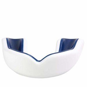 Oral Mart Protège-Dents pour Sport pour Adultes (Blanc/Bleu Marine)