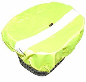 P4B Reflex Housse de Protection imperméable pour Panier de vélo avec Bandes réfléchissantes Jaune Fluo