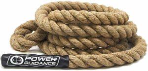 POWER GUIDANCE Corde à Grimper, Climbing Rope, pour Training de Musculation Diamètre 38mm(4.5M)