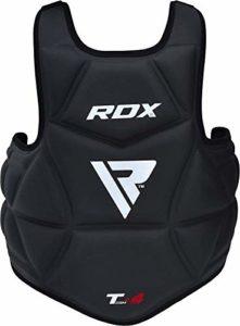 RDX Plastron de Boxe Protection Pro Avance Corps Garde de la Poitrine Protecteur Armure Arts Martiaux Protege Cotes Entrainement de Taekwondo (CE Certifié Approuvé)