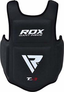 RDX Plastron de Boxe Protection Pro Avance Corps Garde de la Poitrine Protecteur Armure Arts Martiaux Protege Cotes Entrainement de Taekwondo (Certifié CE et approuvé)