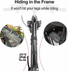ROCKBROS Sacoche de Cadre Vélo VTT Etanche Bande Réglable Portable 3L Noir pour Cyclisme