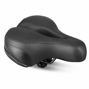 Selle Vélo Siège de Vélo Confortable Avec Creux Coussin Respirant Rembourrage en Mousse Siège Vélo/VTT avec Bande Réfléchissante Bike Seat Saddle Bicyclette Cyclisme